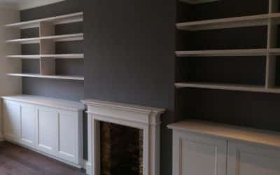 Installing and painting bespoke furniture by LGC