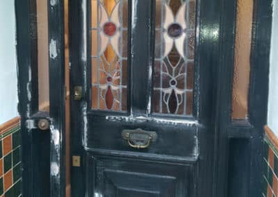 Before Front door painting