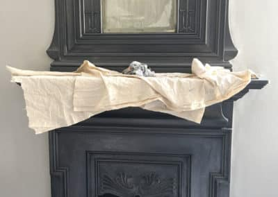 Restored old fireplace